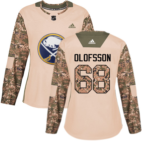 Adidas Sabres #68 Victor Olofsson Camo Authentic 2017 Veterans Day Women's Stitched NHL Jersey