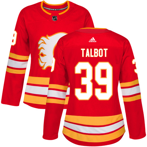 Adidas Flames #39 Cam Talbot Red Alternate Authentic Women's Stitched NHL Jersey