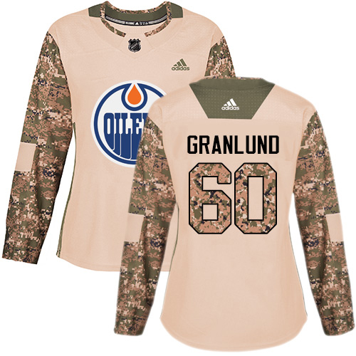 Adidas Oilers #60 Markus Granlund Camo Authentic 2017 Veterans Day Women's Stitched NHL Jersey