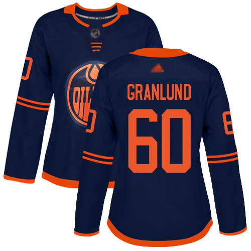 Adidas Oilers #60 Markus Granlund Navy Alternate Authentic Women's Stitched NHL Jersey