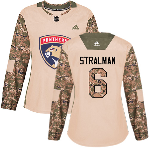 Adidas Panthers #6 Anton Stralman Camo Authentic 2017 Veterans Day Women's Stitched NHL Jersey