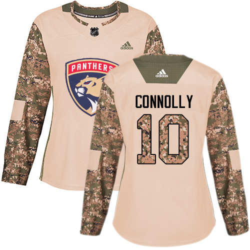 Adidas Panthers #10 Brett Connolly Camo Authentic 2017 Veterans Day Women's Stitched NHL Jersey
