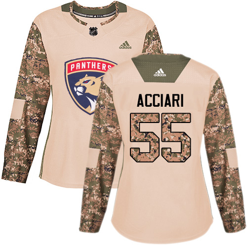 Adidas Panthers #55 Noel Acciari Camo Authentic 2017 Veterans Day Women's Stitched NHL Jersey