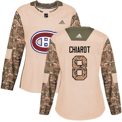 Adidas Canadiens #8 Ben Chiarot Camo Authentic 2017 Veterans Day Women's Stitched NHL Jersey