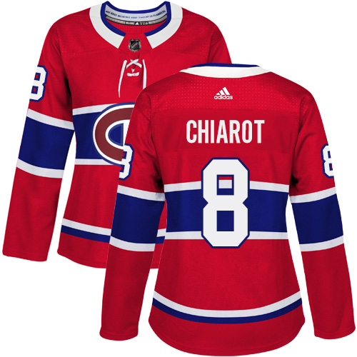 Adidas Canadiens #8 Ben Chiarot Red Home Authentic Women's Stitched NHL Jersey