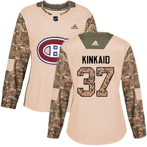 Adidas Canadiens #37 Keith Kinkaid Camo Authentic 2017 Veterans Day Women's Stitched NHL Jersey