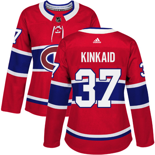 Adidas Canadiens #37 Keith Kinkaid Red Home Authentic Women's Stitched NHL Jersey