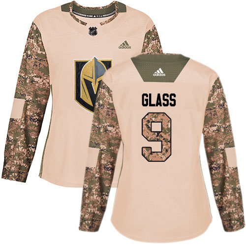 Adidas Golden Knights #9 Cody Glass Camo Authentic 2017 Veterans Day Women's Stitched NHL Jersey
