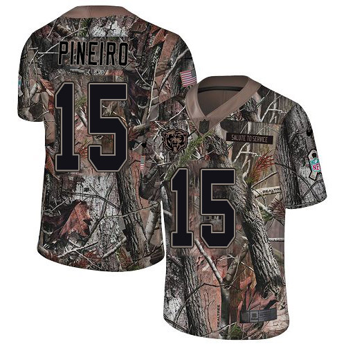 Nike Bears #15 Eddy Pineiro Camo Youth Stitched NFL Limited Rush Realtree Jersey