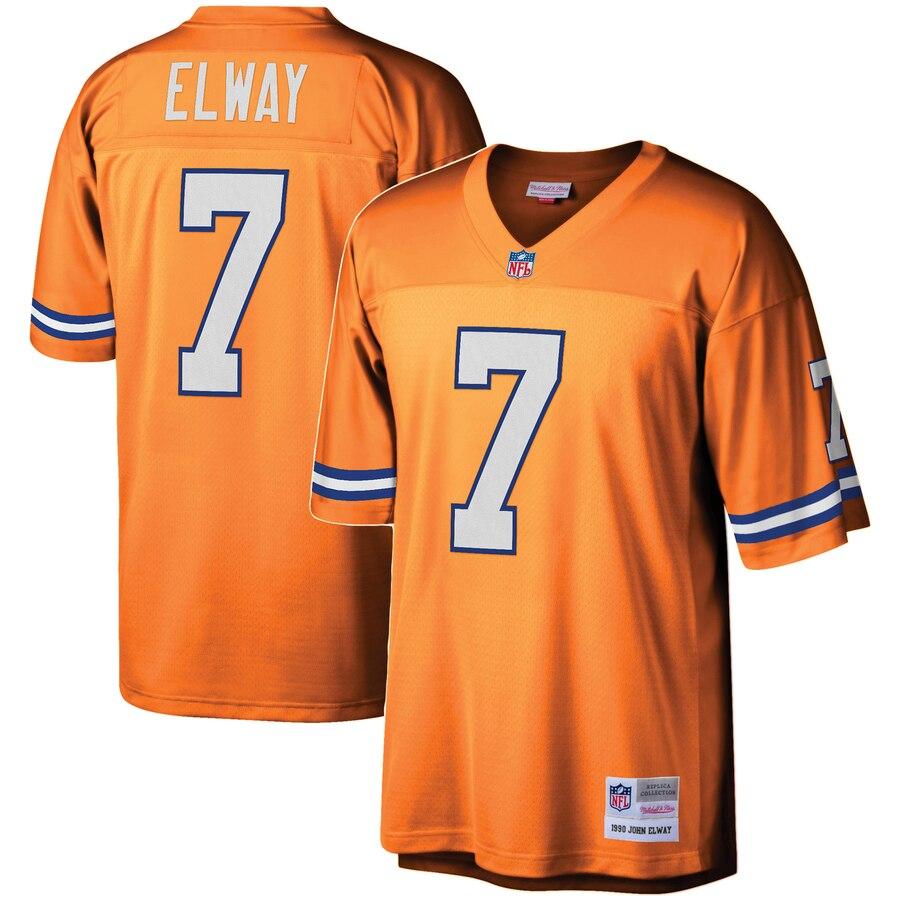 Youth Denver Broncos #7 John Elway Mitchell & Ness Orange 1990 Legacy Retired Player Jersey