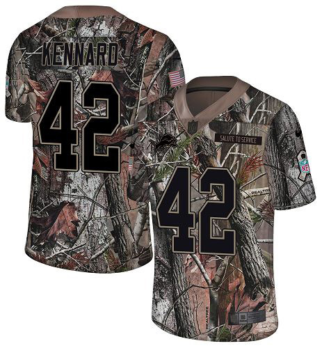 Nike Lions #42 Devon Kennard Camo Youth Stitched NFL Limited Rush Realtree Jersey