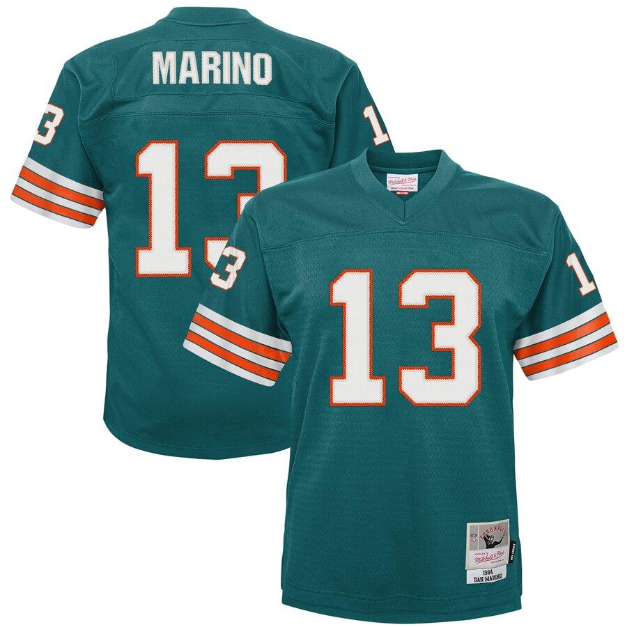 Youth Miami Dolphins #13 Dan Marino Mitchell & Ness Aqua 1984 Legacy Retired Player Jersey