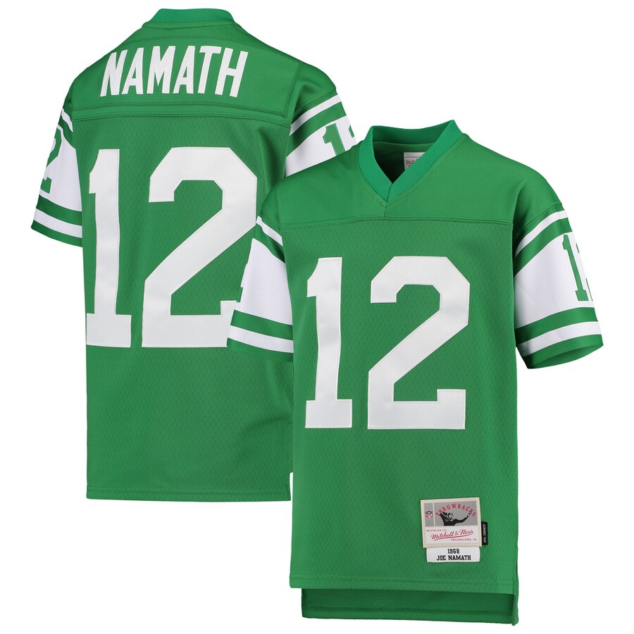 Youth New York Jets #12 Joe Namath Mitchell & Ness Green 1968 Legacy Retired Player Jersey