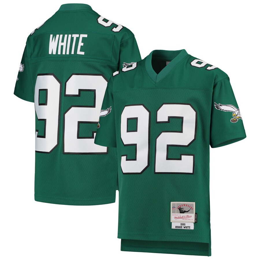 Youth Philadelphia Eagles #92 Reggie White Mitchell & Ness Green 1990 Legacy Retired Player Jersey