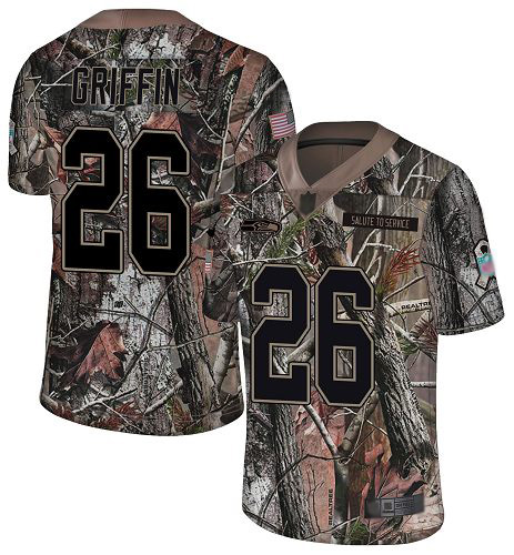 Nike Seahawks #26 Shaquem Griffin Camo Youth Stitched NFL Limited Rush Realtree Jersey