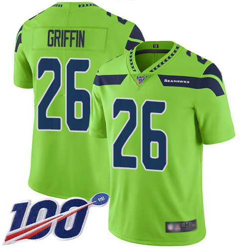 Nike Seahawks #26 Shaquem Griffin Green Youth Stitched NFL Limited Rush 100th Season Jersey