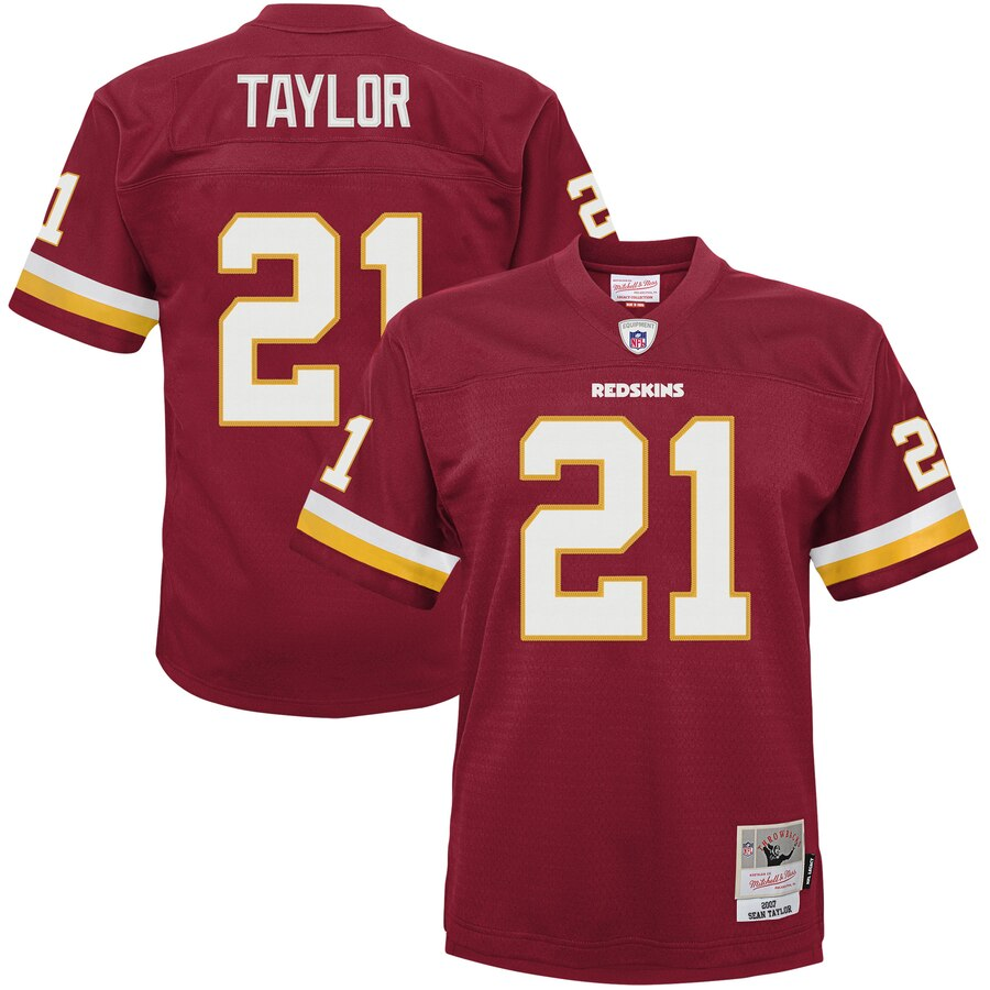 Youth Washington Redskins #21 Sean Taylor Mitchell & Ness Burgundy 2007 Legacy Retired Player Jersey