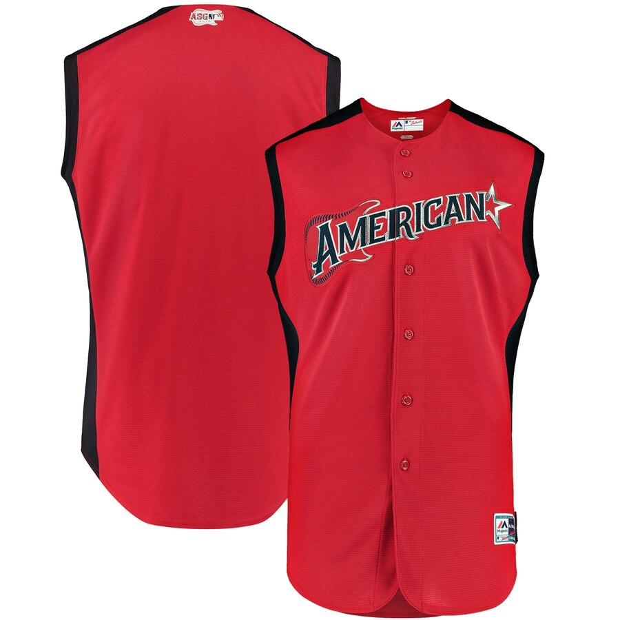 American League Blank Majestic Youth 2019 MLB All-Star Game Player Jersey Red