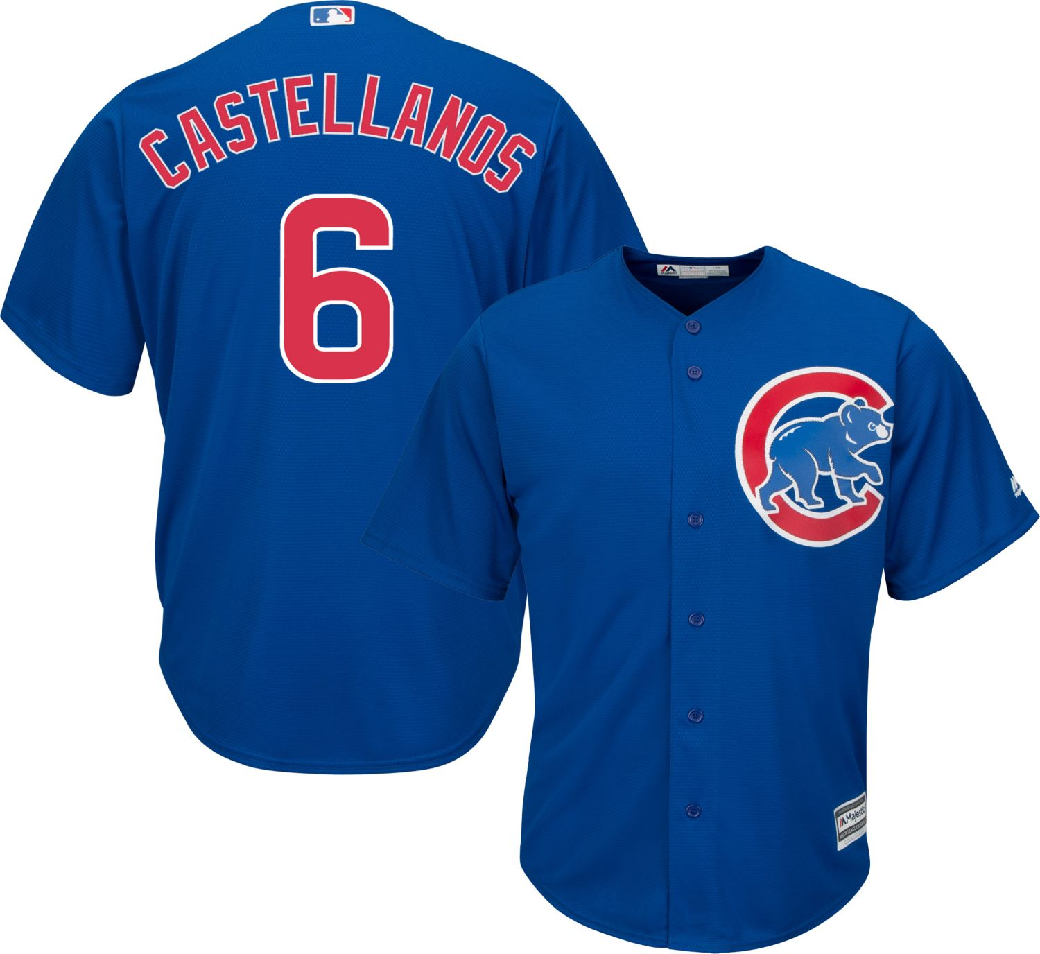 Cubs #6 Nicholas Castellanos Blue Cool Base Stitched Youth MLB Jersey