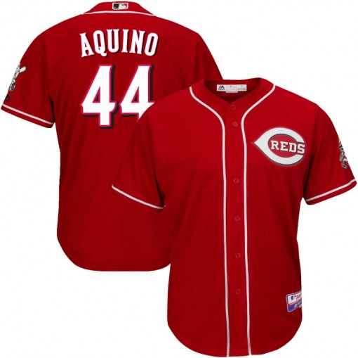 Reds #44 Aristides Aquino Red Cool Base Stitched Youth MLB Jersey