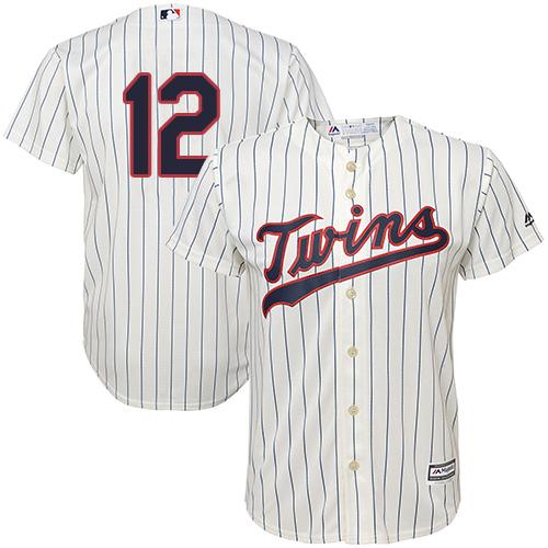 Twins #12 Jake Odorizzi Cream Strip Cool Base Stitched Youth MLB Jersey