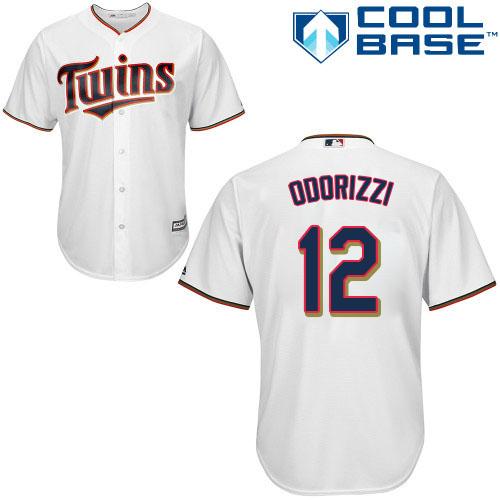 Twins #12 Jake Odorizzi White Cool Base Stitched Youth MLB Jersey