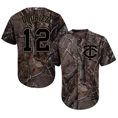Twins #12 Jake Odorizzi Camo Realtree Collection Cool Base Stitched Youth MLB Jersey