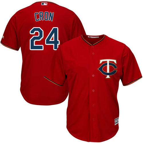Twins #24 C.J. Cron Red Cool Base Stitched Youth MLB Jersey