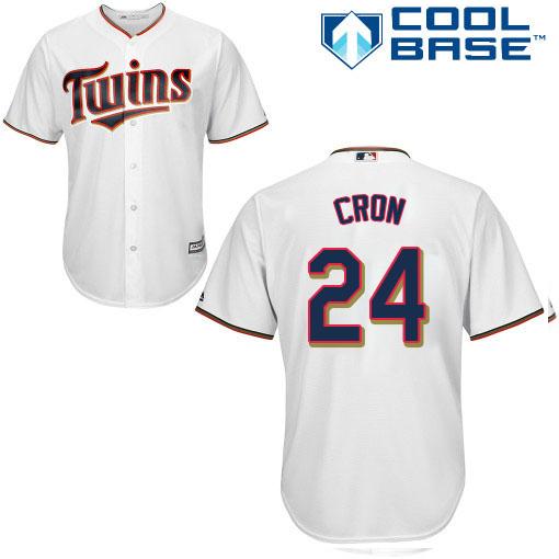 Twins #24 C.J. Cron White Cool Base Stitched Youth MLB Jersey