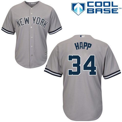 Yankees #34 J.A. Happ Grey New Cool Base Stitched Youth MLB Jersey