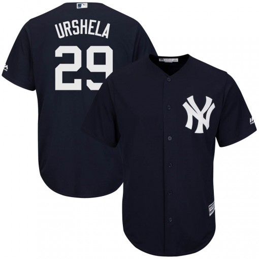 Yankees #29 Gio Urshela Navy Blue New Cool Base Stitched Youth MLB Jersey
