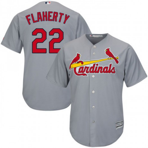 Cardinals #22 Jack Flaherty Grey New Cool Base Stitched Youth MLB Jersey