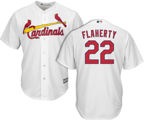 Cardinals #22 Jack Flaherty White New Cool Base Stitched Youth MLB Jersey