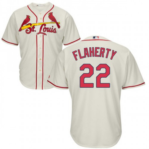 Cardinals #22 Jack Flaherty Cream New Cool Base Stitched Youth MLB Jersey