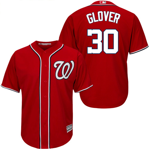 Nationals #30 Koda Glover Red New Cool Base Stitched Youth MLB Jersey