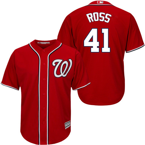 Nationals #41 Joe Ross Red New Cool Base Stitched Youth MLB Jersey