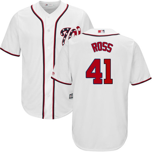 Nationals #41 Joe Ross White New Cool Base Stitched Youth MLB Jersey