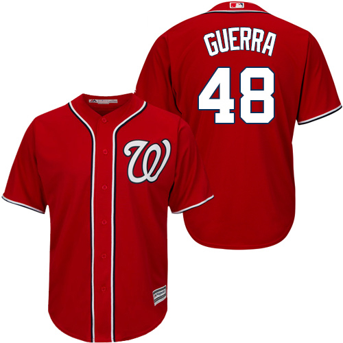 Nationals #48 Javy Guerra Red New Cool Base Stitched Youth MLB Jersey