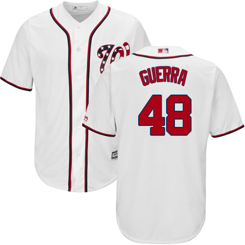 Nationals #48 Javy Guerra White New Cool Base Stitched Youth MLB Jersey