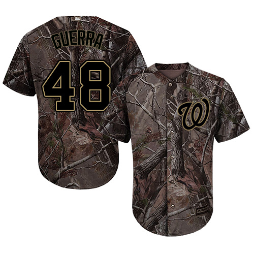 Nationals #48 Javy Guerra Camo Realtree Collection Cool Base Stitched Youth MLB Jersey