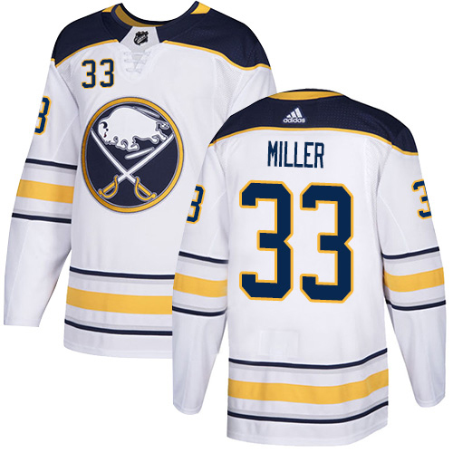 Adidas Sabres #33 Colin Miller White Road Authentic Stitched Youth NHL Jersey