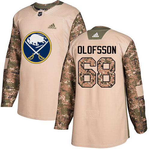 Adidas Sabres #68 Victor Olofsson Camo Authentic 2017 Veterans Day Stitched Youth NHL Jersey