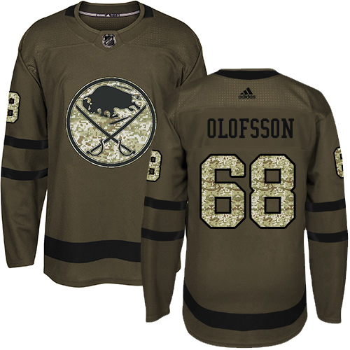 Adidas Sabres #68 Victor Olofsson Green Salute to Service Stitched Youth NHL Jersey