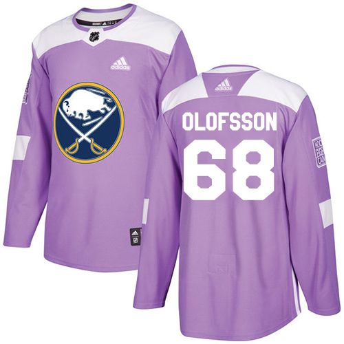 Adidas Sabres #68 Victor Olofsson Purple Authentic Fights Cancer Stitched Youth NHL Jersey