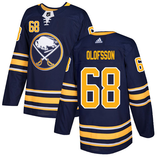 Adidas Sabres #68 Victor Olofsson Navy Blue Home Authentic Stitched Youth NHL Jersey