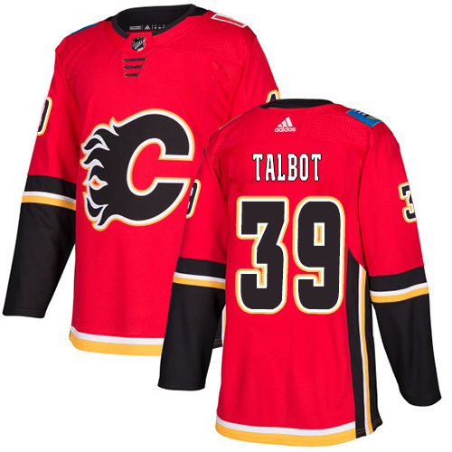Adidas Flames #39 Cam Talbot Red Home Authentic Stitched Youth NHL Jersey