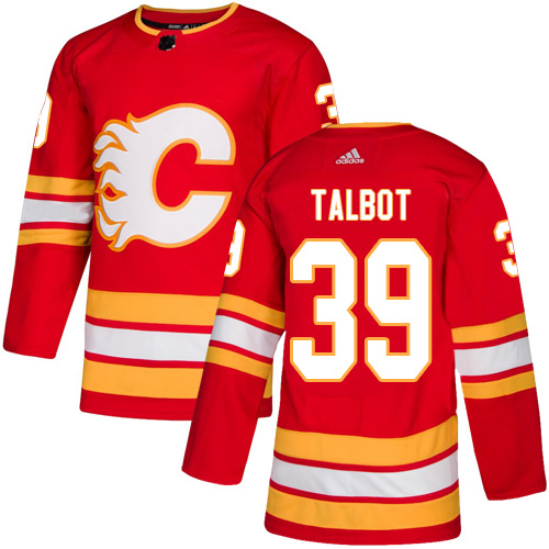 Adidas Flames #39 Cam Talbot Red Alternate Authentic Stitched Youth NHL Jersey