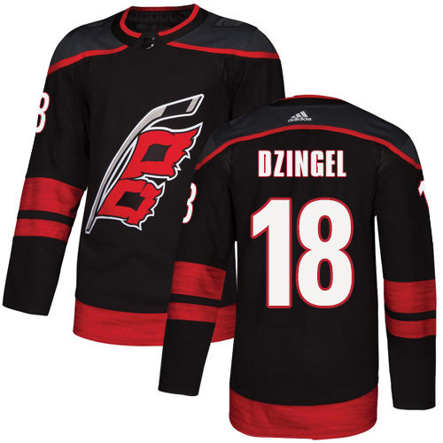 Adidas Hurricanes #18 Ryan Dzingel Black Alternate Authentic Stitched Youth NHL Jersey
