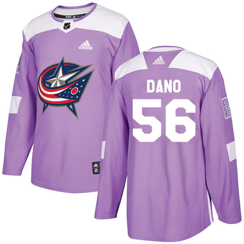 Adidas Blue Jackets #56 Marko Dano Purple Authentic Fights Cancer Stitched Youth NHL Jersey