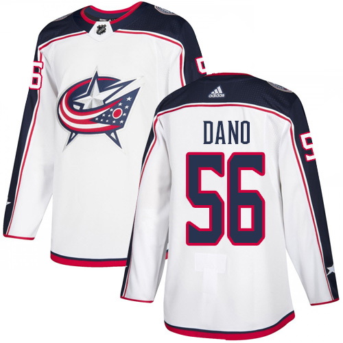 Adidas Blue Jackets #56 Marko Dano White Road Authentic Stitched Youth NHL Jersey